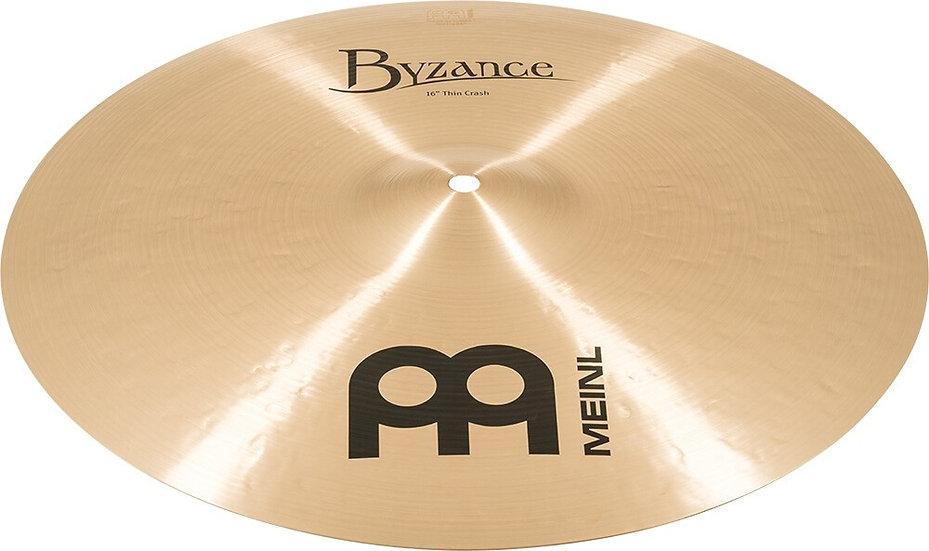 "Meinl 16"" Byzance Traditional Thin Crash Cymbal"