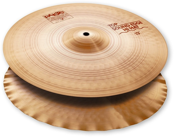 "Paiste 13"" 2002 Sound Edge Hi-Hat Cymbals"