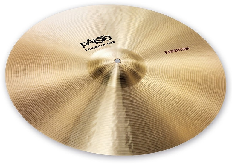 "Paiste 18"" Formula 602 Classic Sounds Paperthin Crash Cymbal"