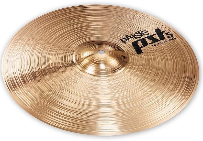 "Paiste 16"" PST 5 Medium Crash Cymbal"