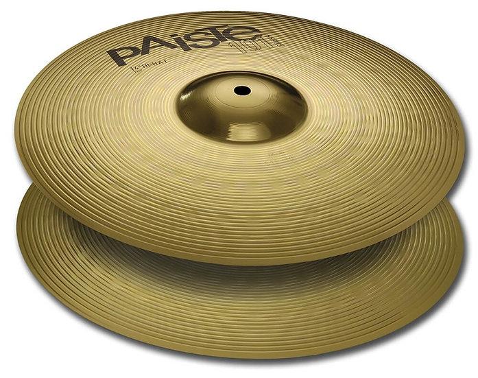 """Paiste 14"""" 101 Brass Hi-Hat Cymbals"""