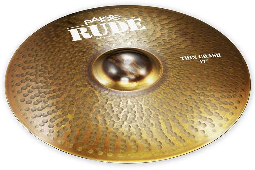 "Paiste 17"" RUDE Thin Crash Cymbal"