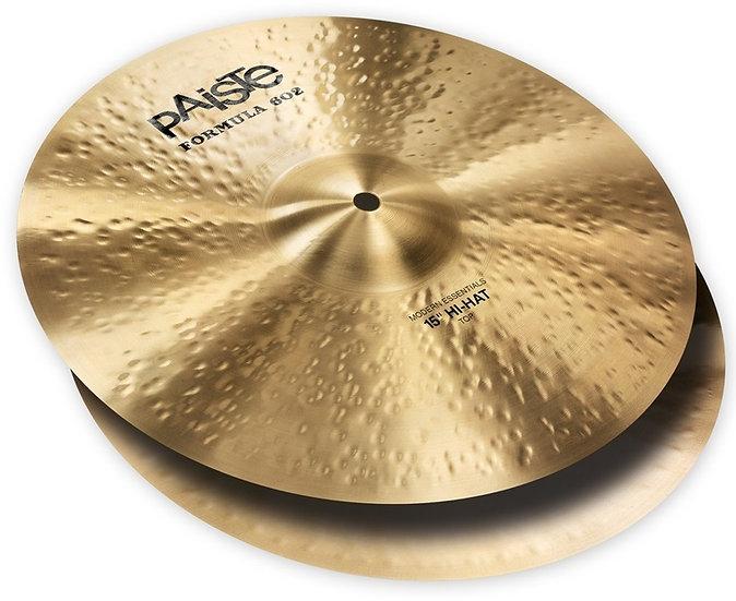 "Paiste 15"" Formula 602 Modern Essentials Hi Hat Cymbals"