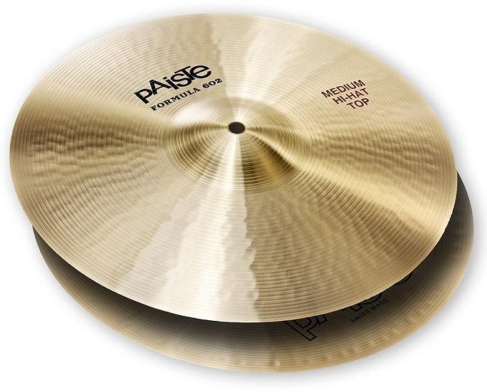 "Paiste 14"" Formula 602 Classic Sounds Medium Hi Hat Cymbals"