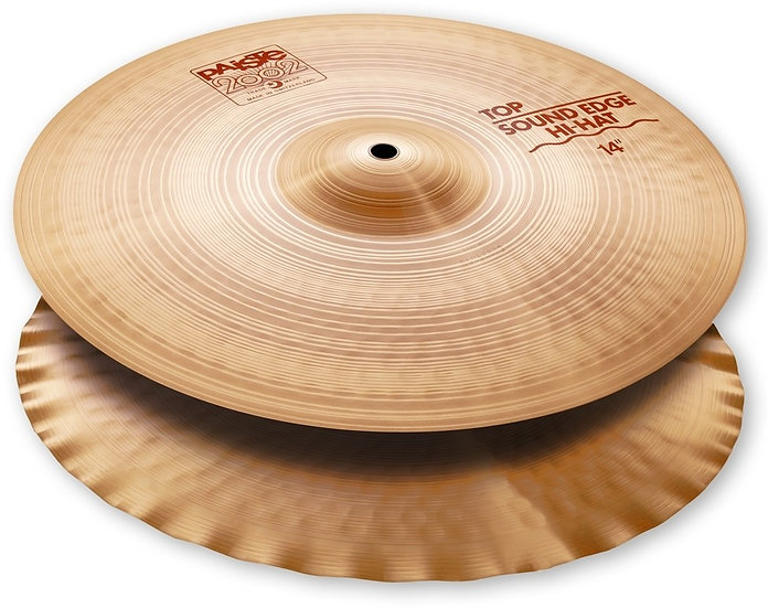"Paiste 14"" 2002 Sound Edge Hi-Hat Cymbals"