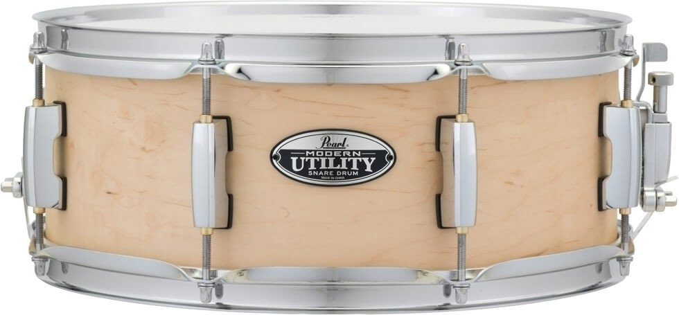 """Pearl 14"""" x 5.5"""" Modern Utility Matte Natural Maple Snare Drum"""