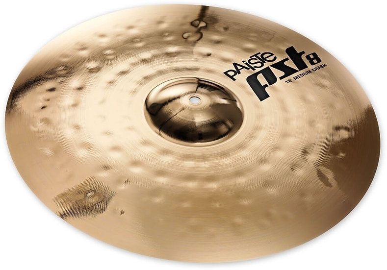 "Paiste 18"" PST 8 Reflector Medium Crash Cymbal"