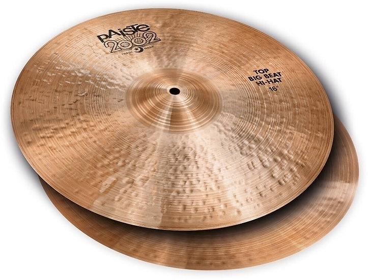 """Paiste 16"""" 2002 Black Big Beat Hi-Hat Cymbals"""
