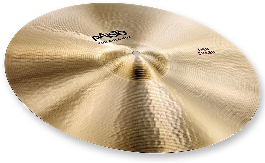 "Paiste 18"" Formula 602 Classic Sounds Thin Crash Cymbal"