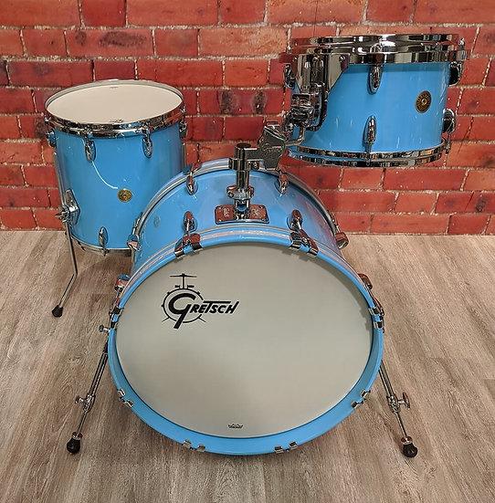 "Gretsch USA Custom 20"" 3pc Shell Pack in Powder Blue Gloss"