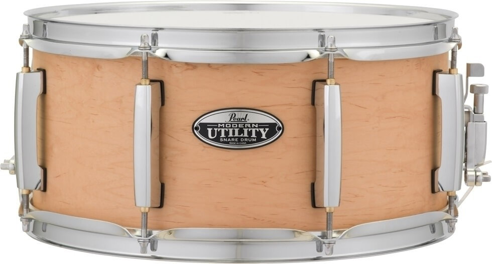 "Pearl 14"" x 6.5"" Modern Utility Matte Natural Maple Snare Drum"