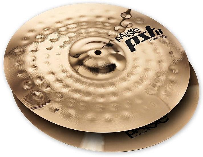 "Paiste 14"" PST 8 Reflector Rock Hi-Hats Cymbal"