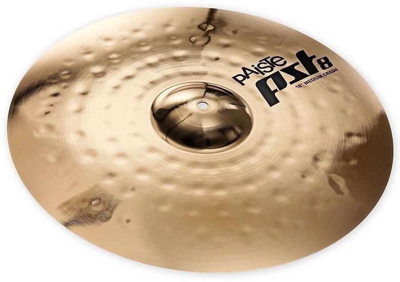 "Paiste 16"" PST 8 Reflector Medium Crash Cymbal"