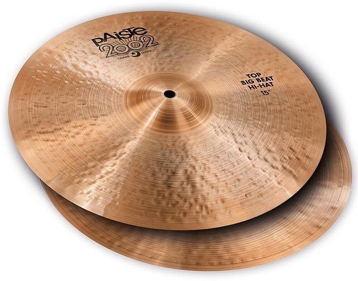 """Paiste 15"""" 2002 Black Big Beat Hi-Hat Cymbals"""