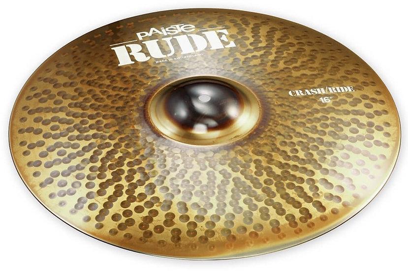 "Paiste 16"" RUDE Crash Ride Cymbal"