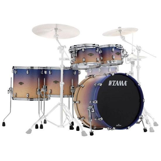 Tama Birch / Walnut Starclassic 5pc Shell Pack Satin Purple Atmosphere Fade