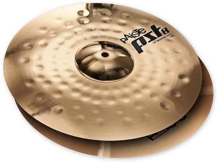"Paiste 14"" PST 8 Reflector Medium Hi-Hats Cymbal"