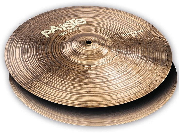 "Paiste 15"" 900 Series Heavy Hi-Hat Cymbals"