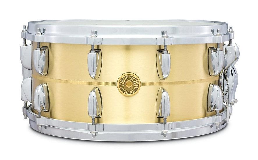 """Gretsch 14"""" x 6.5"""" 3mm Bell Brass Snare Drum"""
