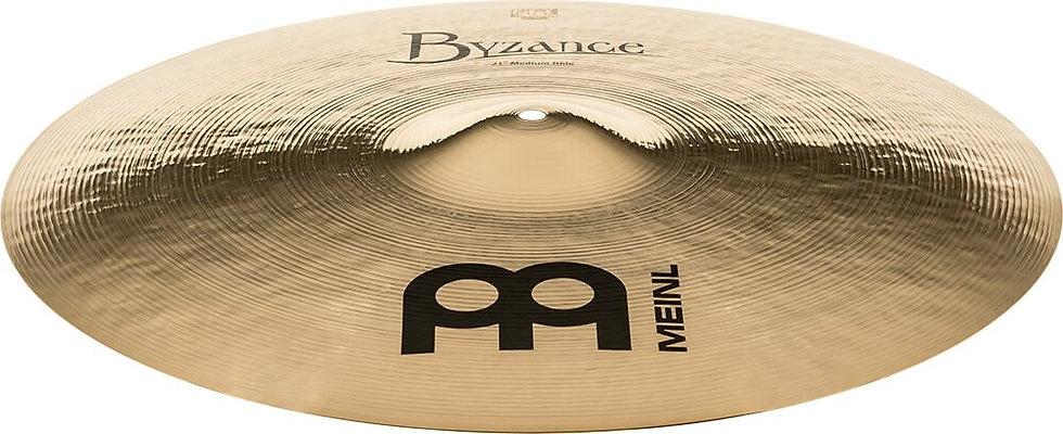 """Meinl Byzance Brilliant 21"""" Medium Ride Cymbal"""