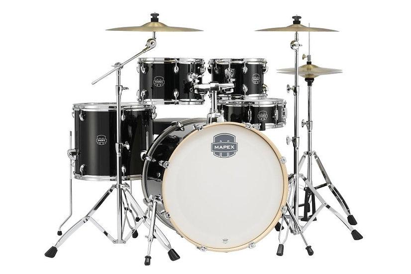 Mapex Storm Complete Drum Kit - Black - FREE T400 Drum Throne