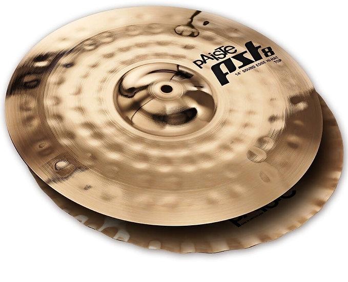 "Paiste 14"" PST 8 Reflector Sound Edge Hi-Hat Cymbals"