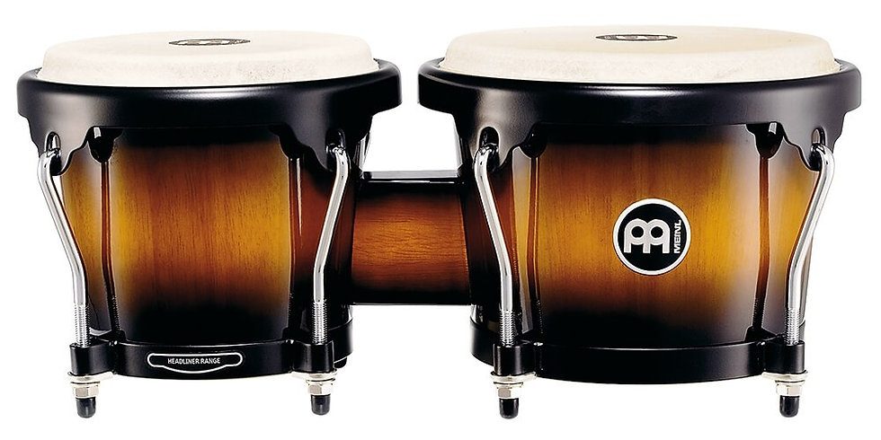 Meinl Percussion Headliner Series Wood Bongos Vintage Sunburst