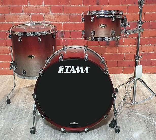 Tama Birch / Walnut Starclassic 3pc Shell Pack Satin Burgundy Fade