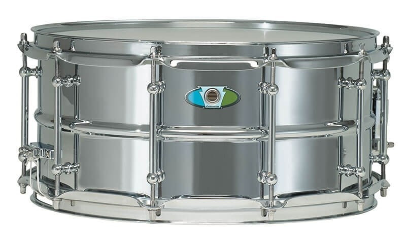 "Ludwig Supralite Steel Snare Drum - 14"" x 6.5"""