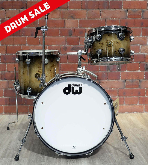 DW DRUMS – JAZZ Series Exotic – Mapa Burl 3 Piece Shell Pack
