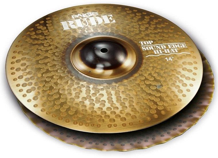 "Paiste 14"" RUDE Sound Edge Hi-Hat Cymbals"