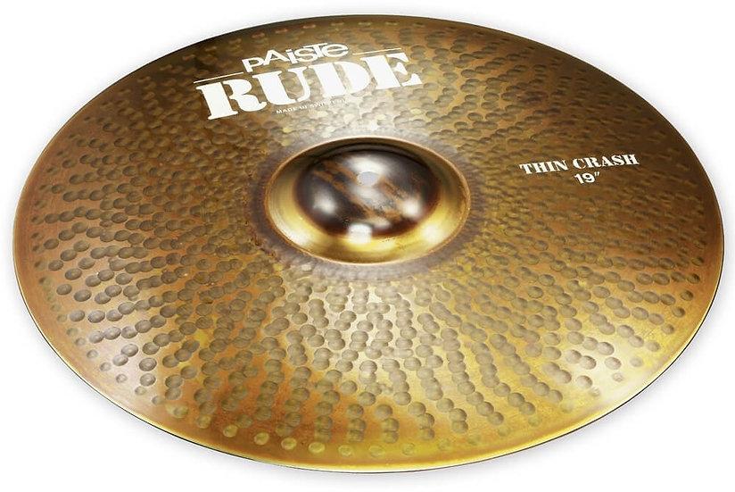 "Paiste 19"" RUDE Thin Crash Cymbal"