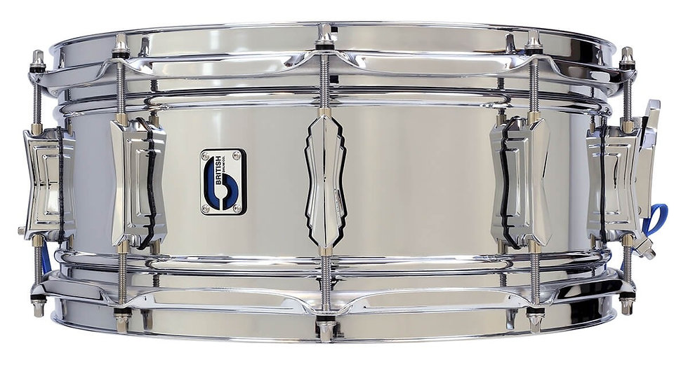 "British Drum Company 14"" x 6""  Bluebird Brass Snare Drum"