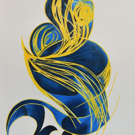 Coo Blue Reason: Yellow 297 x 420 mm 2018