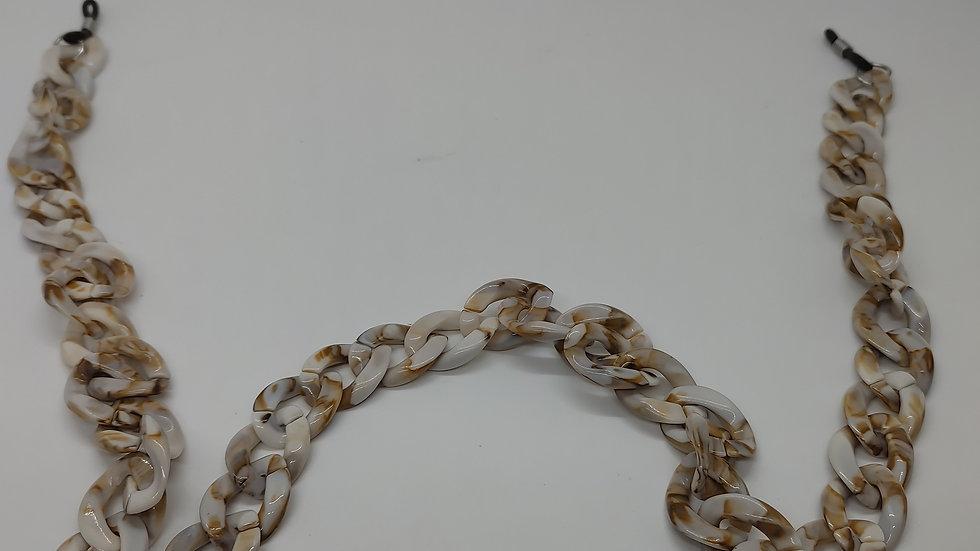 Plastic link eyewear chains