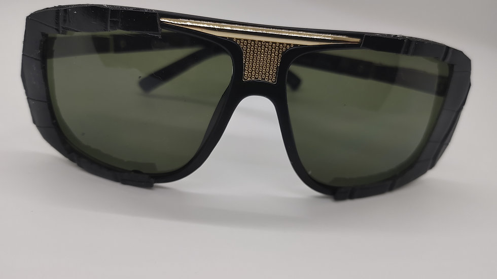 Black crocodile leather