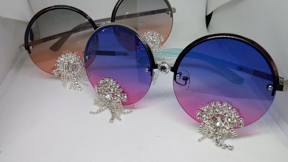 Ombre` Circle Sunglasses