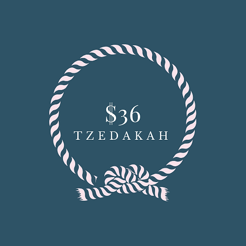 One Time Tzedakah $36