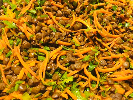 Lentil Salad with Carrots & Parsley