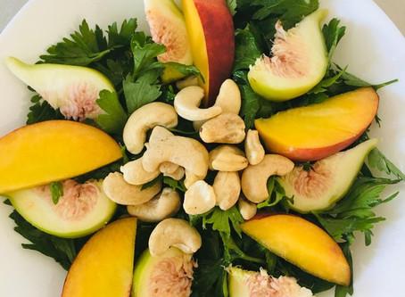 Parsley-Fig-Peach Salad