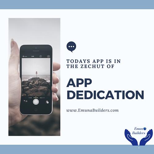 1 Day App Dedication