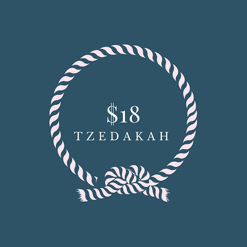 One Time Tzedakah $18 for prayer trek