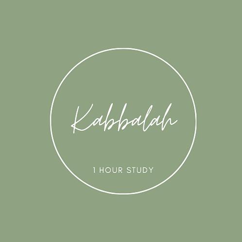 Kabbalah 1 Hour Study