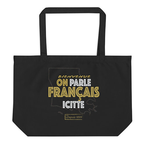 On Parle Français Icitte - Large Tote
