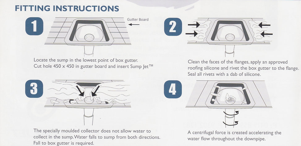 roof sump fitting instructions