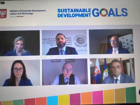 UNPR a reprezentat mediul de afaceri din România la Forumul Agendei2030 V4+