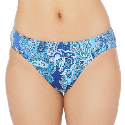 Blue Paisley Hipster Bikini Bottom - LR0MF93