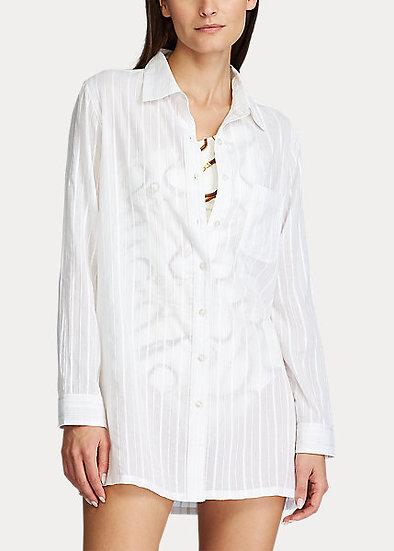 SALE Long Sleeve Button-Up Shirt - LR0FF56
