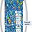 Thumbnail: Floral Blue Double Faced Designer Quilted Sack