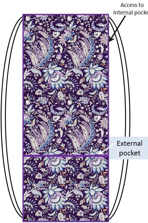 Purple Paisley Racquet Sack
